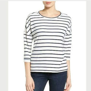 GIBSON striped soft tee top
